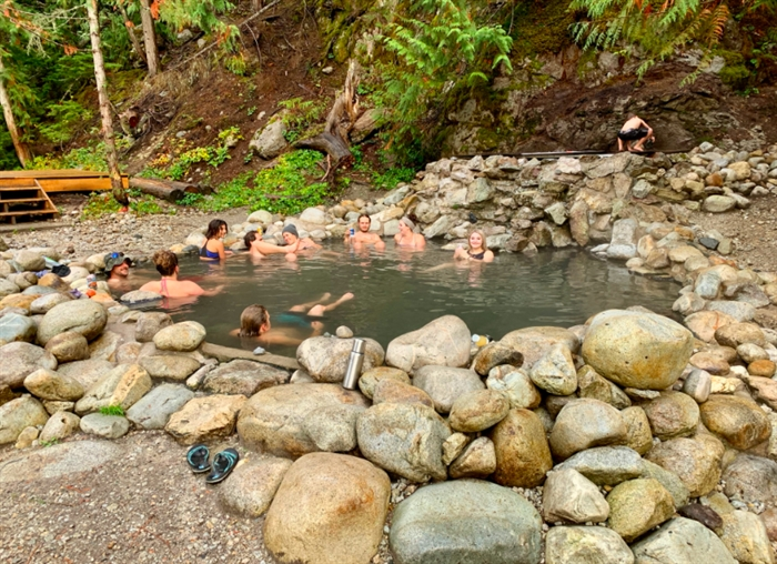 Halfway River Hot Springs Provincial Park may not be accessible by car in the winter.