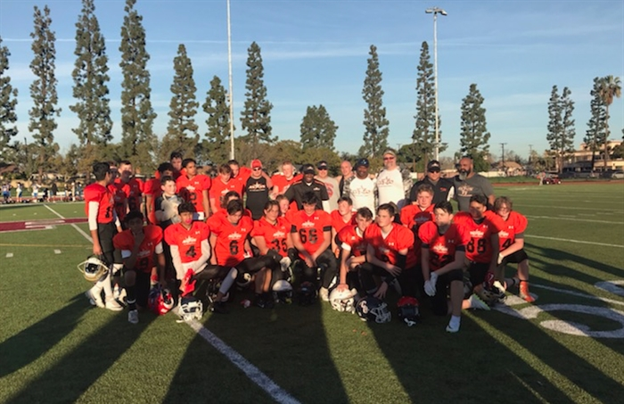 Last year was the first time Canadian players were involved in the Snoop Youth Football League National Championships. This team of boys from B.C. participated in the 14U division.