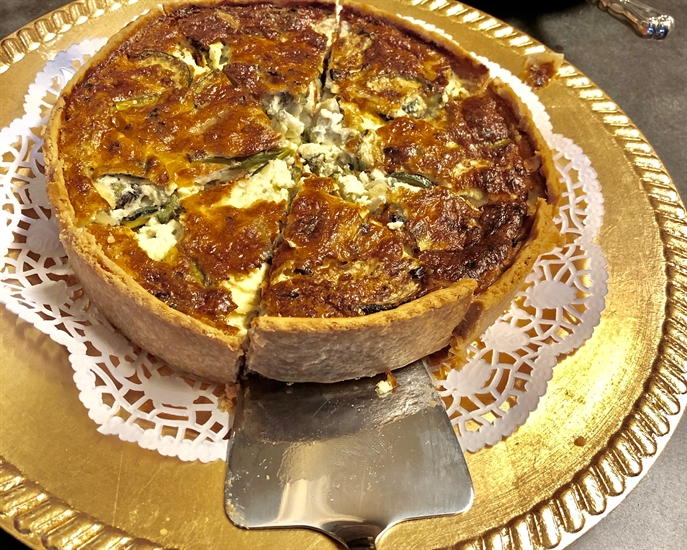 Delicious quiche & more from Waterfront Cafe.