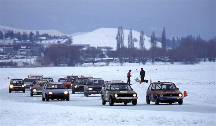 Ice racing at Swan Lake, 1997.