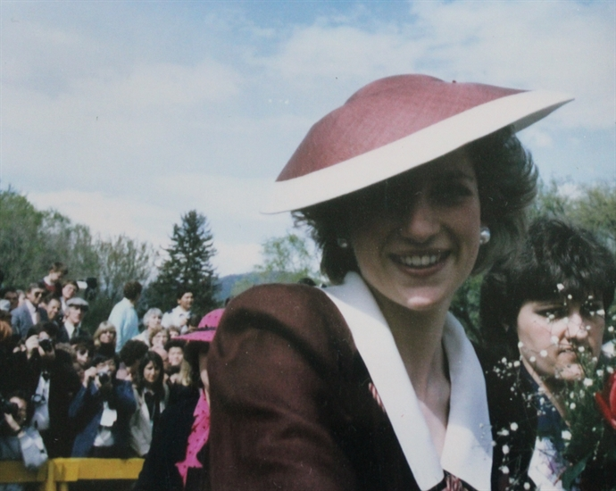 Princess Diana at Riverside Park in Kamloops.
