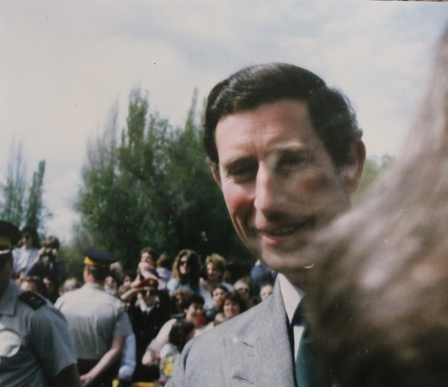 Prince Charles is pictured in this photo from 1986 in Kamloops.