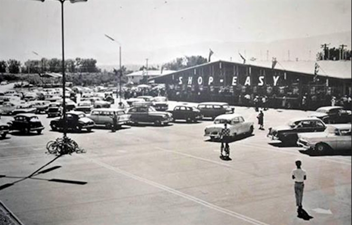 When it first opened in 1959 or 1960, the Shop Easy grocery store was the key tenant.