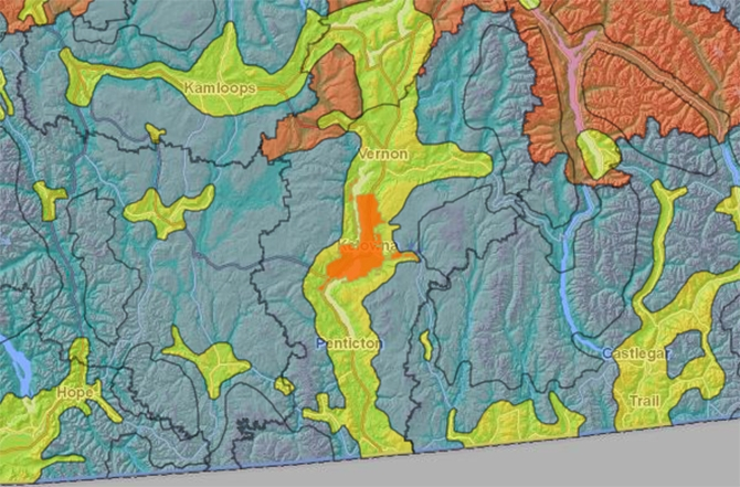 Open burning is no longer permitted in High Sensitivity zones outlined in yellow.