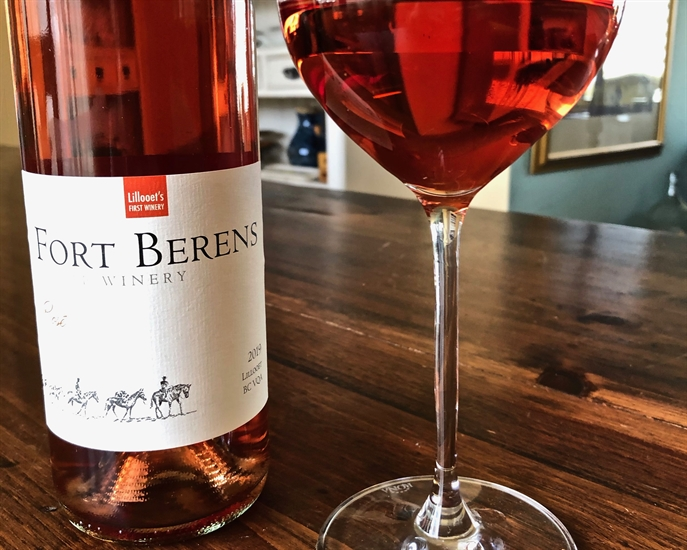 Fort Berens Pinot Noir Rosé will entice you with cranberry, watermelon, and floral aromas.