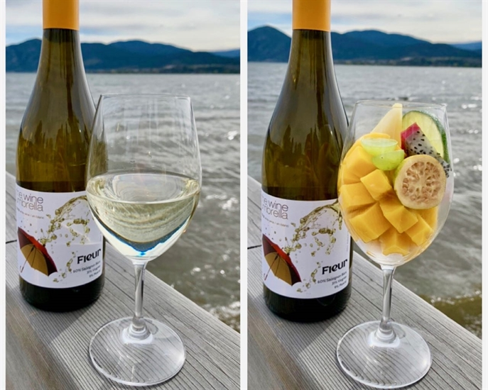 The Wine Umbrella's new Fleur blend is a beautiful fruity white blend perfect to toast your mom on this sunny weekend.