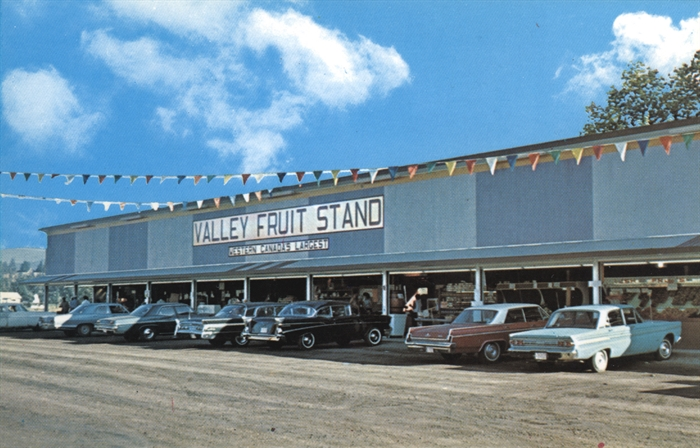 Valley Fruit Stand, which was Western Canada's largest, located on 43rd Avenue in the 1960s.