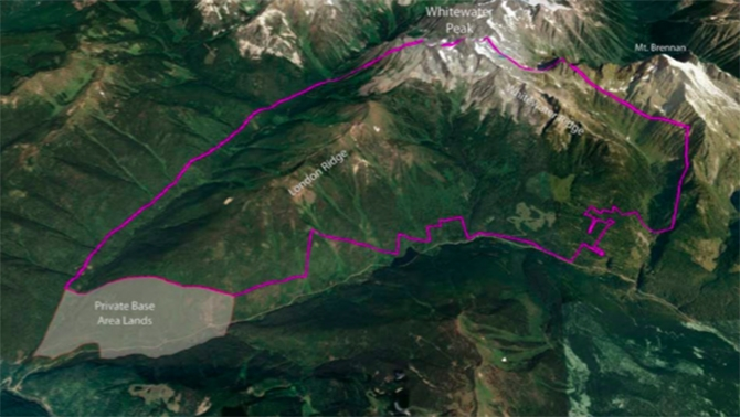 The proposed Zincton study area limits between New Denver and Kaslo.