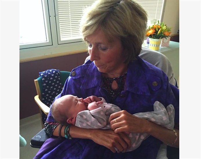 Dianna Green and her grand niece.