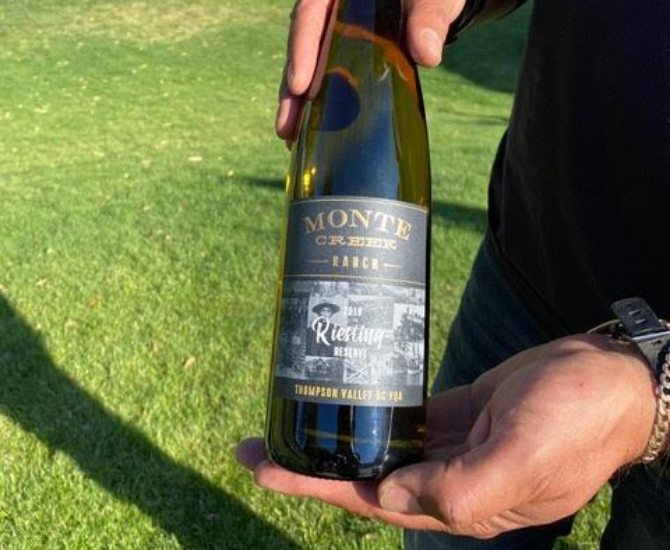 Monte Creek's 2018 Thompson Valley Reserve Riesling won Best White Wine of the Year for 2020.