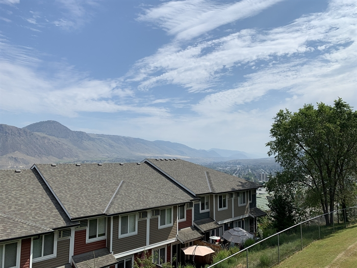 The smoky view from a Kamloops neighbourhood, July 31.