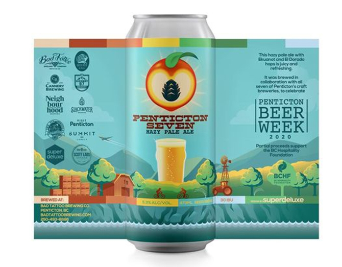 A new beer has been created in a collaborative effort among the seven Penticton breweries participating in this year's Penticton Beer Week, Oct. 16 to 24, 2020.