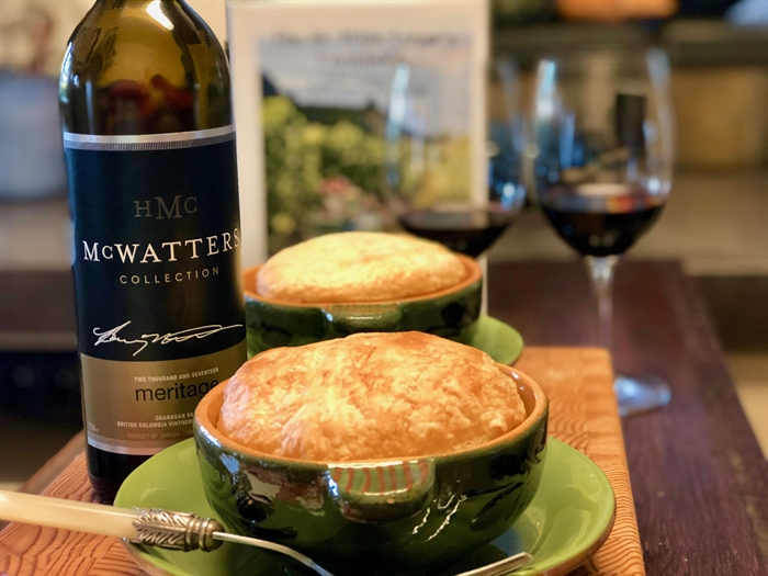 This delicious stew features local craft beer and pairs perfectly with McWatters Meritage.