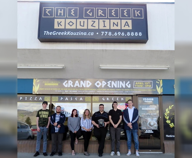 The Greek Kouzina staff at their grand opening in 2018.