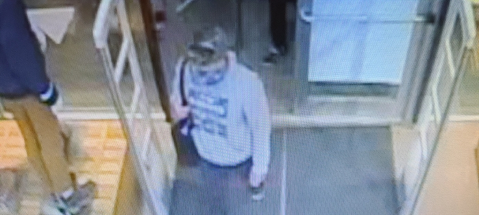 An image of a shoplifting suspect taken from surveillance video at the Atmosphere store in the 1100 block of Columbia Street in Kamloops is seen in this submitted photo. Police say he was attempting to steal a jacket, Nov. 5, 2020 around 5 p.m.