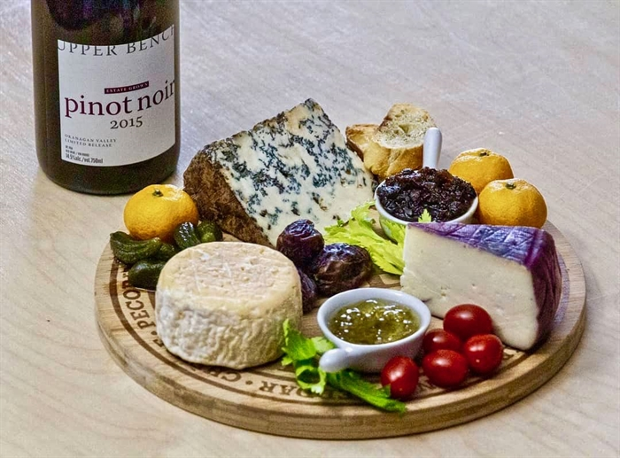 Wine and cheese, the perfect pairing!  Local wine and cheesemakers Upper Bench in Penticton offer both.