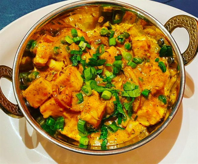 Creamy Mutter Paneer from Madras Masala & Grill.