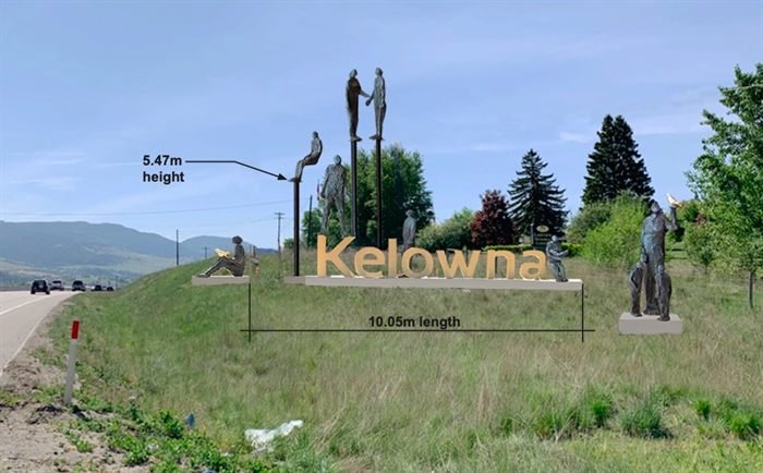 This is the largest of three options that will be reviewed by Kelowna city council.