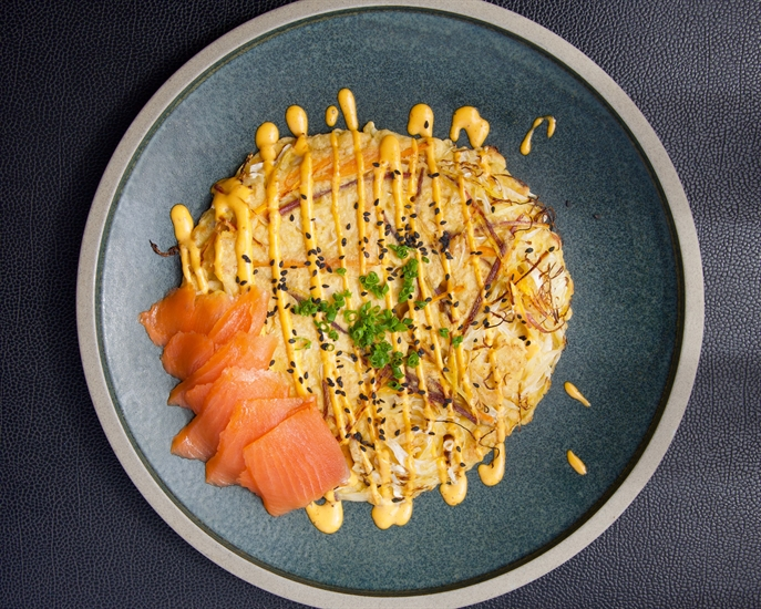 Okonomiyaki is super easy to make at home and is very impressive.