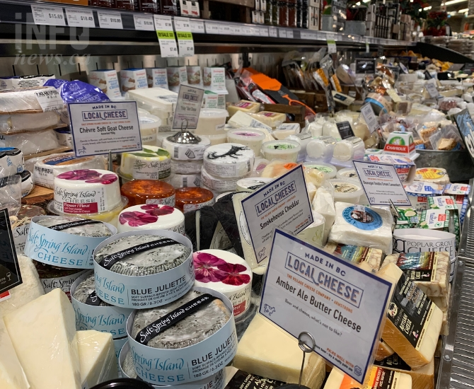 Fresh St. Market is big on cheese, featuring a large variety of speciality, local B.C. cheeses.