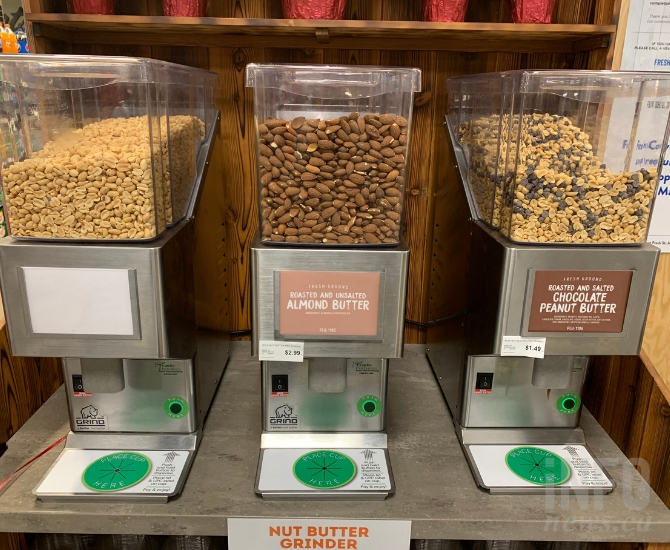 You can grind your own nut butter in-store.