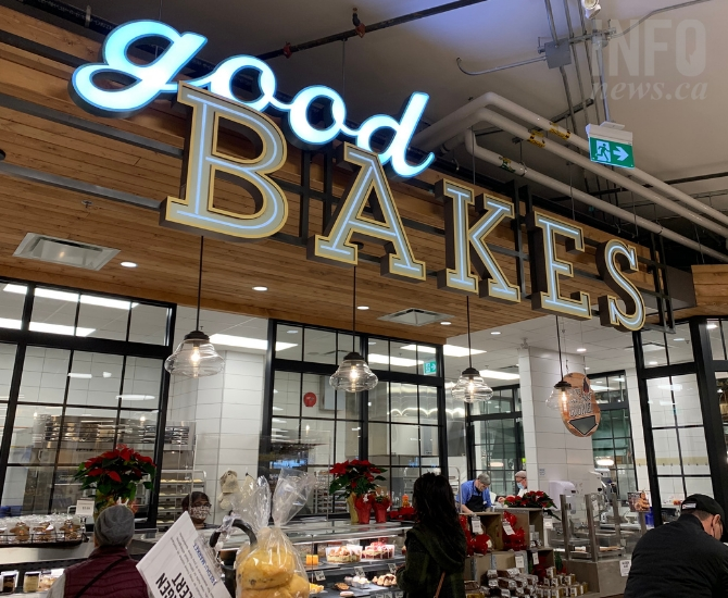Fresh St. Market has a wide selection of fresh baked goods like cakes, breads, croissants and buns.
