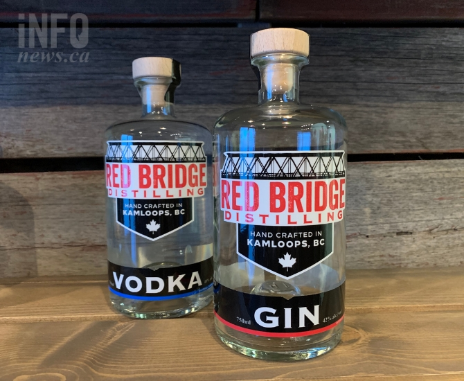 The Red Bridge vodka has been bottled, and their gin is coming up next.