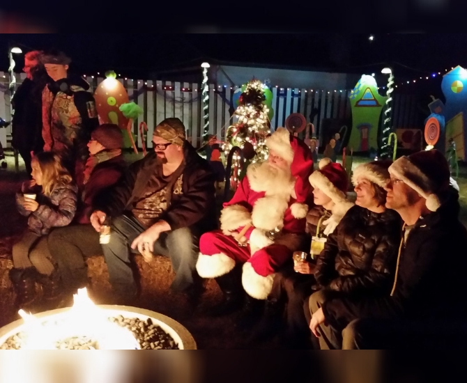 In previous years, guests would sit around the fire to watch the cartoon How the Grinch Stole Christmas.