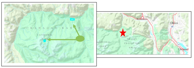 Two inholdings were added to Cathedral Provincial Park near Keremeos.