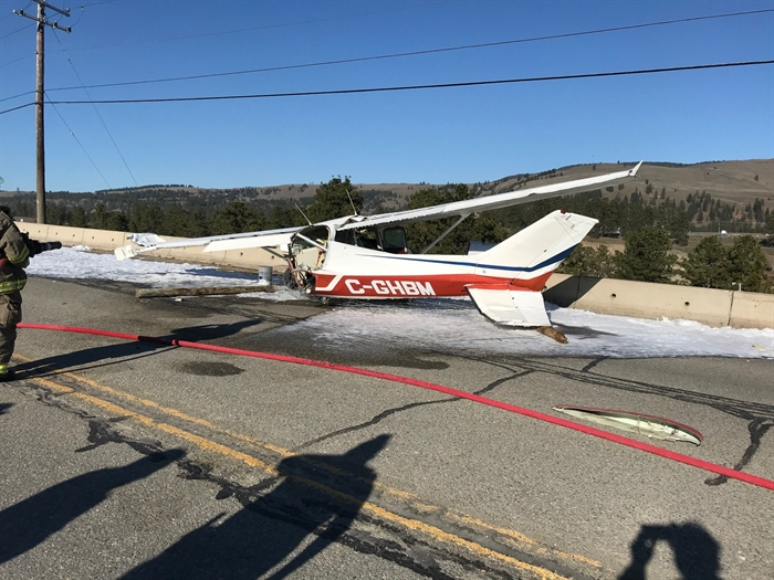 Student pilot walks away from crash on Highway 5A near Princeton