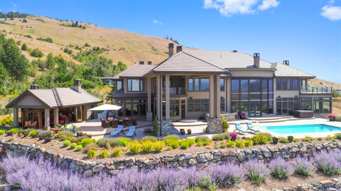 This 15,000 square foot Coldstream home is going to auction with an asking price of $13 million.