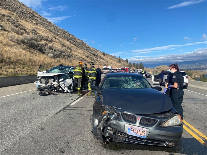 RCMP say one dead, several injured in Highway 97 crash south of Penticton