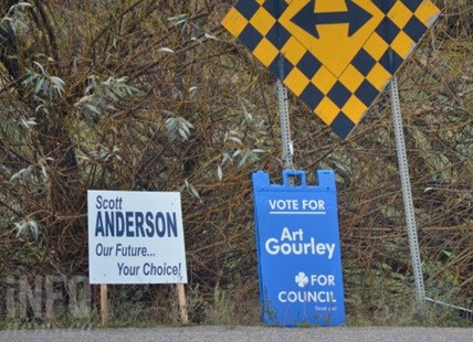 Candidates have until the end of this weekend to clean up their signs in Vernon.