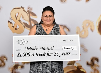 Melody Manuel of Kamloops has won $1,000 a week for 25 years in the Set for Life lottery.