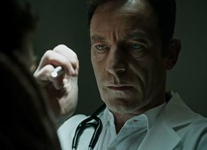 "This image released by Twentieth Century Fox shows Jason Isaacs in a scene from ""A Cure For Wellness."""