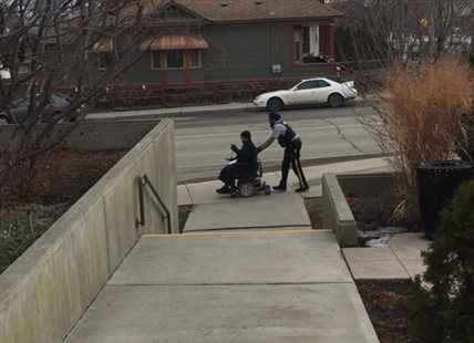 On Friday, Feb. 17, 2017, Kamloops RCMP Const. Sukhdeep Toor pushed a man more than six blocks in a broken down, power wheelchair to get him home safely.