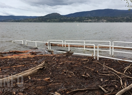Rotary Beach is already flooded and Okanagan Lake could rise another 10 cm over the next week.