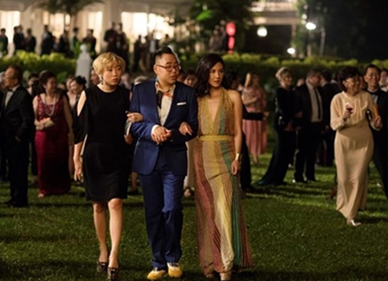 "This image released by Warner Bros. Entertainment shows Awkwafina, from left, Nico Santos and Constance Wu in a scene from the film ""Crazy Rich Asians."""