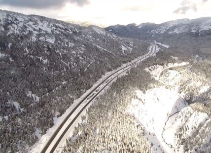 This video features one of the Coquihalla's best angles.