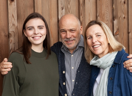 Blue Grouse Estate Winery owners, Paul & Cristina Brunner with daughter Paula (L).