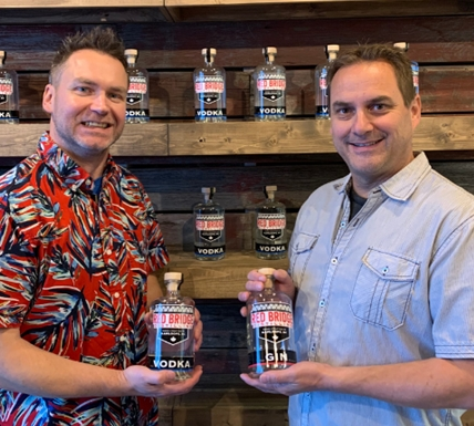 Owners of Red Bridge Distilling Richard Bugera (left) and Dave Nikkel.