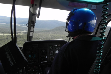 An RCMP helicopter was used extensively in the search for a missing hiker west of Clinton earlier this week.