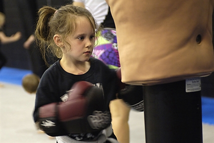 Annika Hill practices mixed martial arts at Toshido in Kelowna. Her mother, Melanie, says MMA teaches her daughter discipline, self defence, focus and gives her an outlet for frustrations.