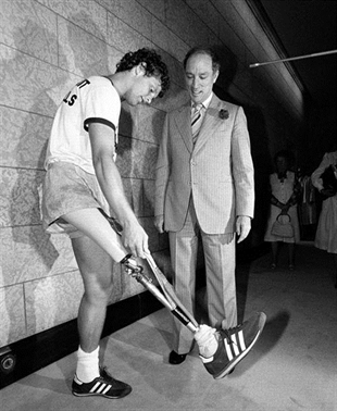 Terry Fox meets with Prime Minister Pierre Trudeau in Ottawa on July 2, 1980. Canadians have handed the Harper government a Top 10 list of the country's greatest heroes.