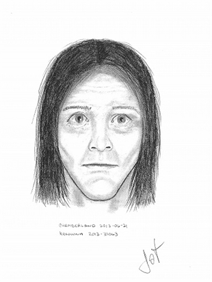 RCMP released this sketch of a man they believe may have information about the murder of Theresa Ashley Neville.