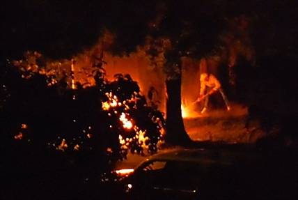 RCMP are investigating a suspected arson behind Cottonwoods Care Centre Saturday night.