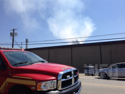 A structure fire started at about 1:30 p.m. at a commercial building on Pinto Road in Kelowna, July 9, 2014.