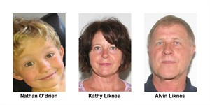 Nathan O'Brien and his grandparents Kathy and Alvin Liknes are shown in Calgary Police Service handout photos. It's now been two weeks since the mysterious disappearance of a five-year-old Calgary boy and his grandparents.