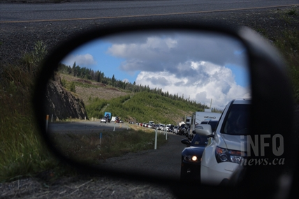 View of to the east along Highway 97C following a traffic accident near Merritt on Friday, July 25, 2014.
