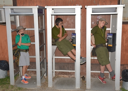 Pay phones at the Vernon Army Camp see lots of use when cadets are in town.